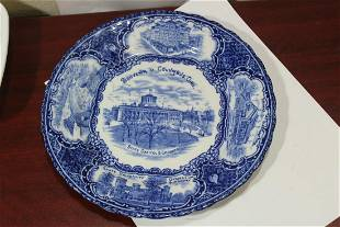 An English Flow Blue Plate