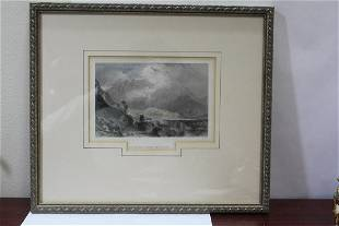 A Framed Etching/Engraving