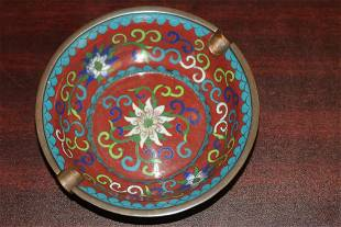 An Antique Chinese Cloisonne Ashtray