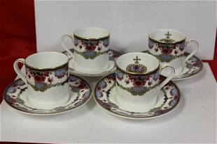 A Set of 4 Royal Doulton Cup and Saucers