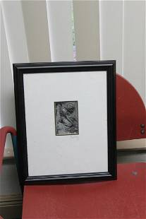 An Etching Signed by Rainey