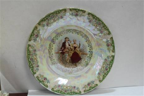 A Japanese Porcelain Portrait Plate