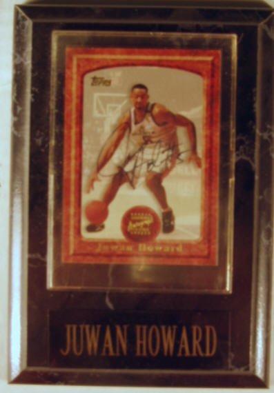1014: Juwan Howard: sgnd card plaque - Appraised at $68