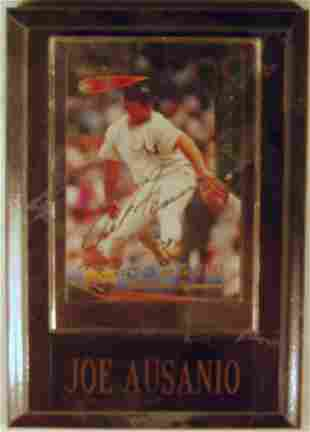Joe Ausanio: sgnd card plaque - Appraised at $58.