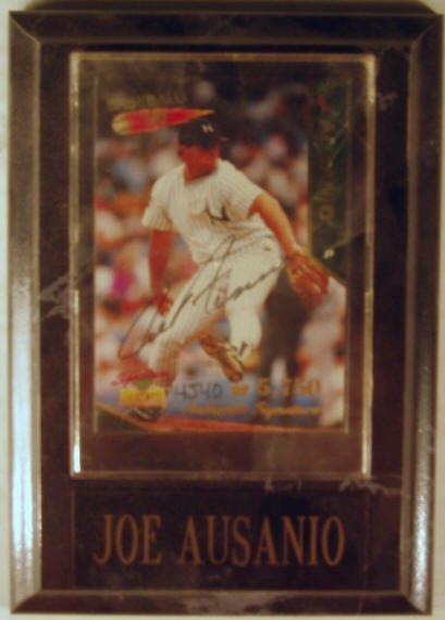 1015: Joe Ausanio: sgnd card plaque - Appraised at $58.