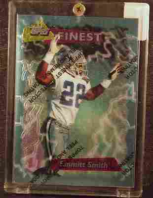 Emmitt Smith: 95 Topps Finest #Booster 180 - Appr