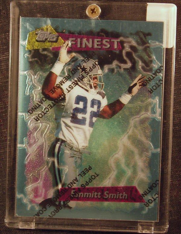 1020: Emmitt Smith: 95 Topps Finest #Booster 180 - Appr