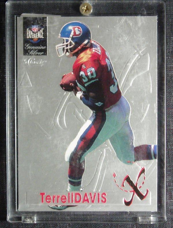 1021: Terrell Davis: Classic Experience Genuine Silver