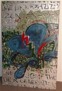 1061: Mixed Media On Canvas - Zone 9