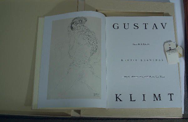 2003: book Erotic Drawings by Gustav Klimt,NY 1980 Harr