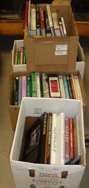 2007: 4 BOXES OF TRAVEL& GARDEN BOOKS