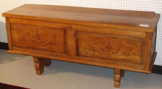 2013: CARVED BLANKET BOX W/ DOLPHIN MOTIF