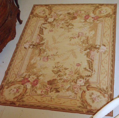 2036: 4' X6' AUBUSSON NEEDLEPOINT RUG
