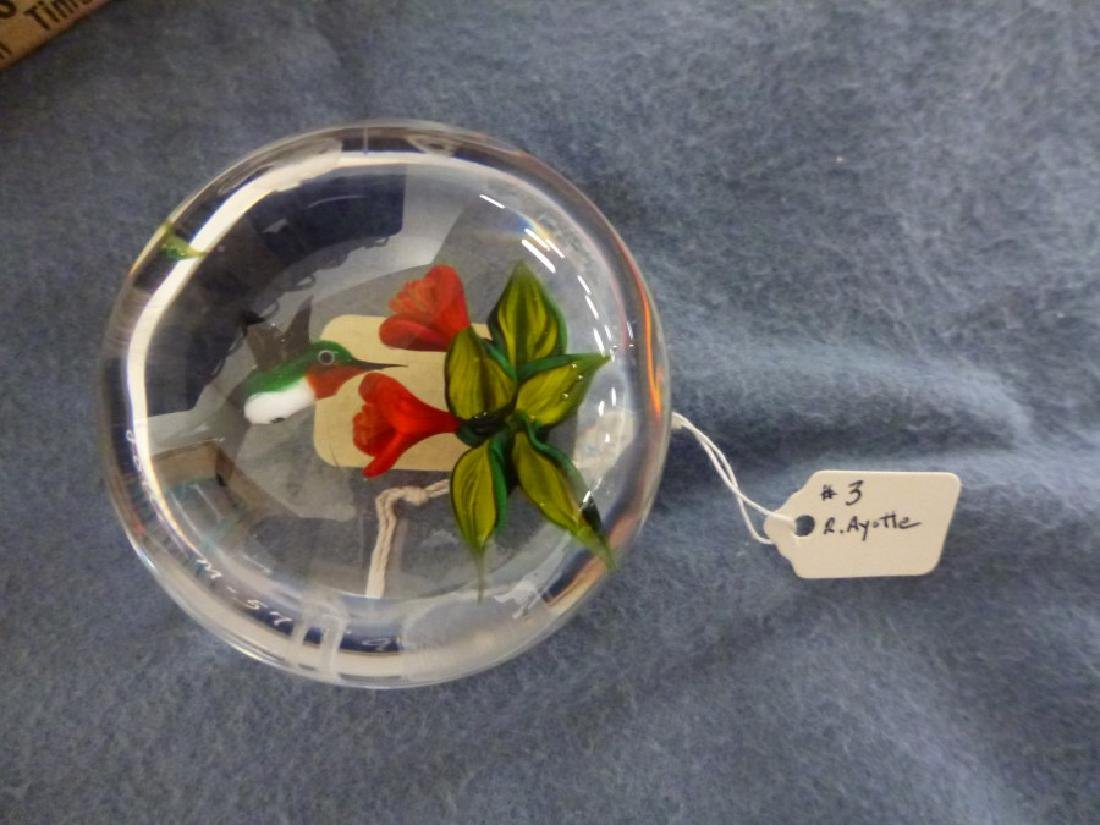 PAPERWEIGHT SGND R. AYOTTE - 2