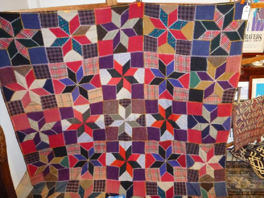 STAR QUILT FLANNEL LINED