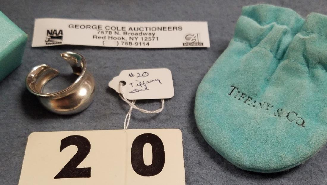TIFFANY AND CO PERETTI STERL RING .21 OZT - 2
