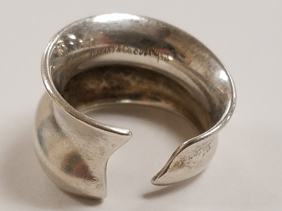 TIFFANY AND CO PERETTI STERL RING .21 OZT - 3