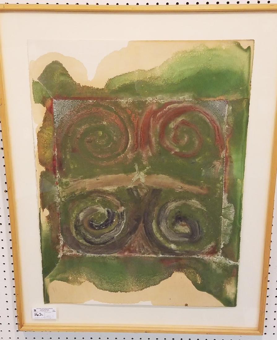 FRAMED MIXED MEDIA ON PAPER FROM THE CHASTEEN ESTATE,
