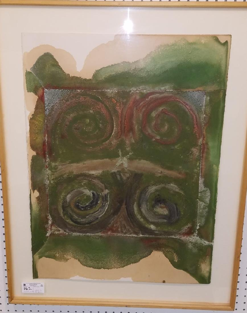 FRAMED MIXED MEDIA ON PAPER FROM THE CHASTEEN ESTATE, - 2