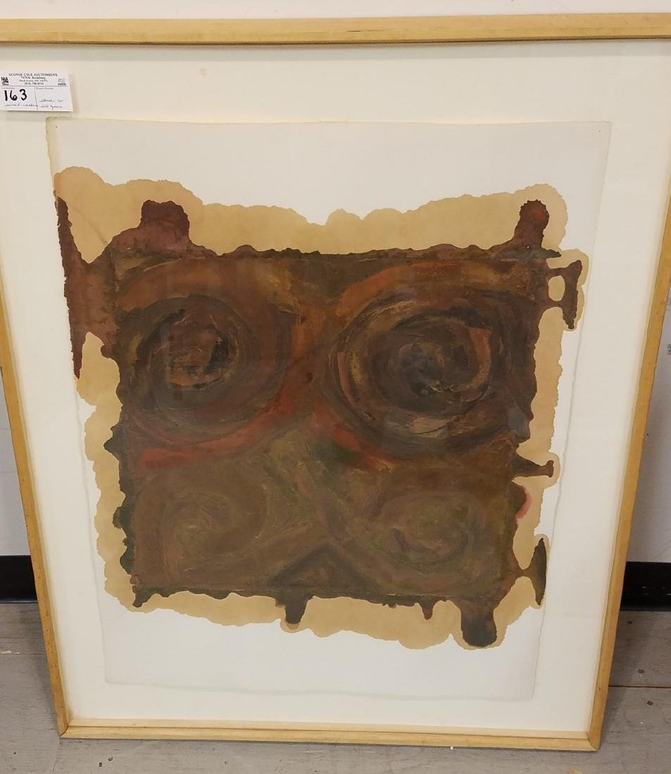 FRAMED MIXED MEDIA ON PAPER, FROM THE CHASTEEN ESTATE,