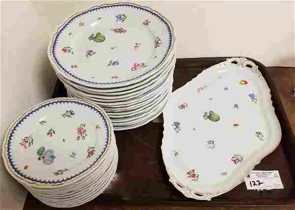 "27PC. GINORI ""ITALIAN FRUIT""-15 DINNER PLATES, 12"