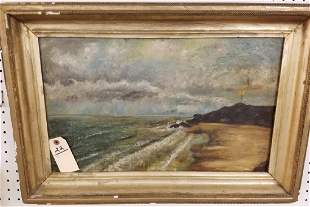 "FRAMED O/C SEASCAPE 13"" X 21 1/2"""
