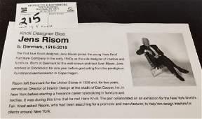"""SET 5 KNOLL JENS RISON DESIGNED SIDE STANDS 20""""H X 18"""""""