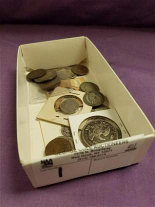 LOT EARLY US COINS 1842,1819,1820,1847 LG CENTS, 1818
