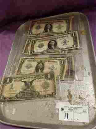 LOT 8 LG $1 BILLS 1899 BLACK EAGLE , 1923 SERIES