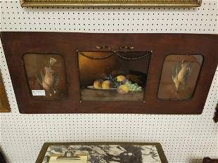"""FRAMED TRIPTYCH PASTEL STILL LIFE 12 1/2"""" X 15 1/4"""" AND"""