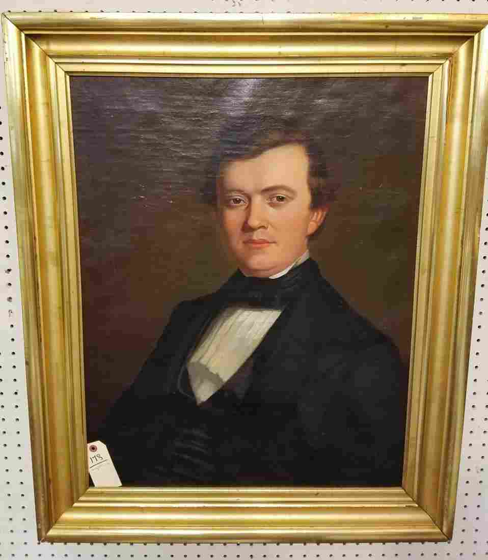 "EARLY 19th c. PORTRAIT OF A GENT, 29.5"" X 23.5"""