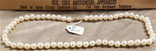 """18"""" CULTURED PEARL NECKLACE"""