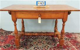 SGND. WALLACE NUTTING 1 DRAWER MAPLE PARLOR/TAVERN