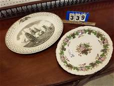 2 PLATTERS WEDGWOOD GRATEWOOD 17 12 AND WEDGWOOD