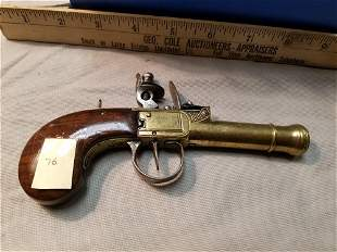 Box Lock Flintlock Blunderbuss Brass Canon Barrel