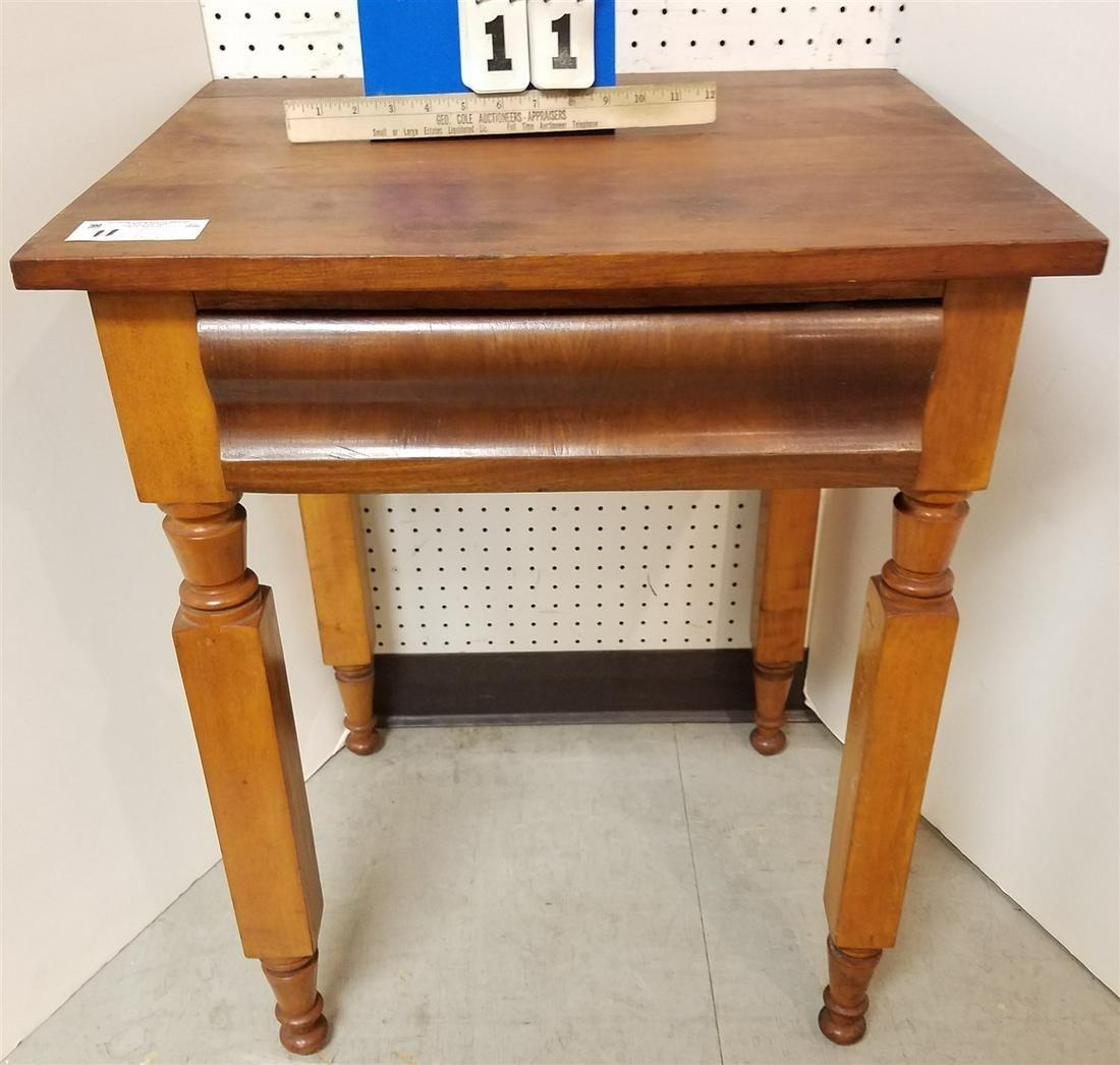 19th c. CHERRRY N.Y.S. LEG 1 DRAW STAND