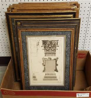 BOX 8 FRAMED ARCHITECTURAL PRINTS