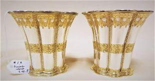 "2 DANISH STERL. PARCEL GILT CUPS, 2.75"", 7.48 OZT"