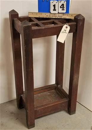 MISSION OAK UMBRELLA STAND