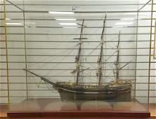 """19th c. SHIP MODEL, """"THE STAR"""" 45""""L X 35""""H X 19""""W."""