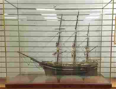 "19th c. SHIP MODEL, ""THE STAR"" 45""L X 35""H X 19""W."