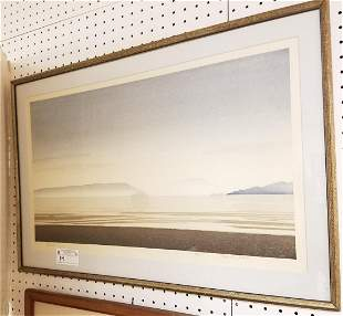 "FRAMED LITHO ""SPANISH BANKS"" PENCIL SGND TANABE 91/200"