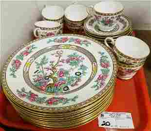TRAY 29 PC AYNSLEY INDIAN TREE LUNCHEON SET