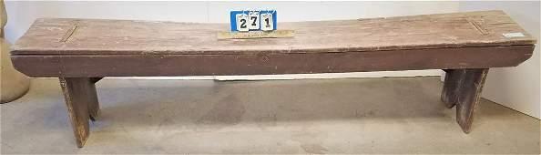 "PRIM BENCH 17 1/2""H X 76""W X 11 1/2""D"