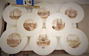 TRAY 8 WEDGEWOOD OLD LONDON VIEWS PLATES 1ST ED 1941 -