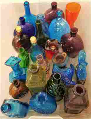 TUB COLORED GLASS BOTTLES