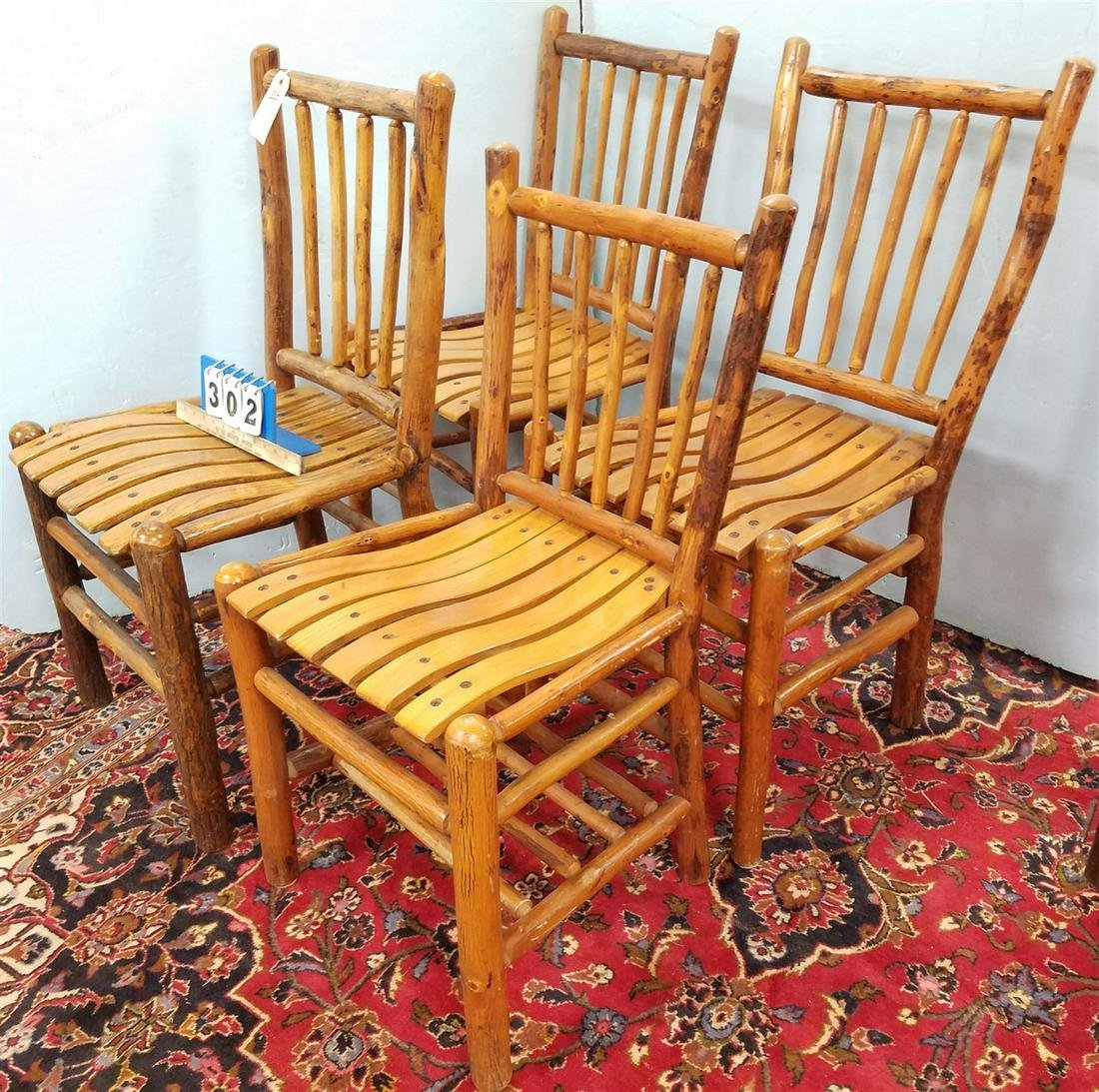SET 4 OLD HICKORY CHAIRS
