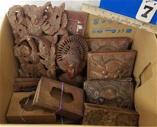BX. ASIAN WOODEN CARVINGS