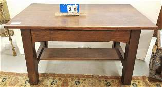 SGND LIMBERTS MISSION OAK LIBRARY TABLE W DESK