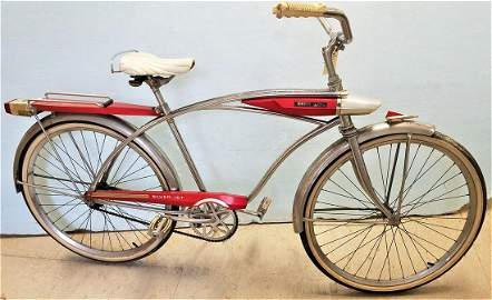 VINTAGE 1960'S HUFFY SILVER JET BICYCLE